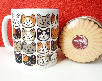 Cat mug, cute mugs, ceramic mug, cat gifts, cat lover gift, gift for her, tea cup, coffee cup, home and living, crazy cat lady