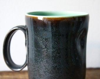 Indented Coal and Glacier Mug