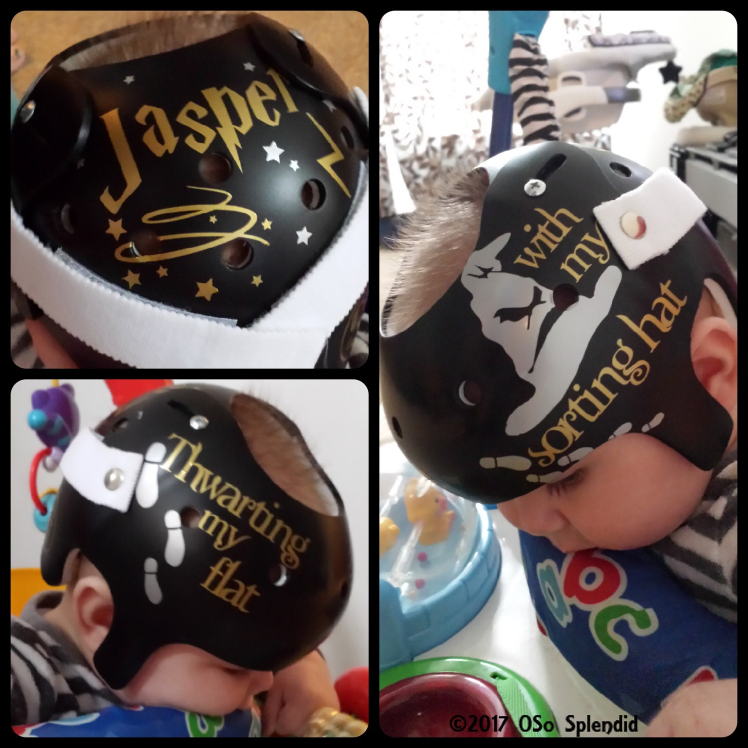 Personalized Cranial Band Decals Thwarting My Flat - Baby helmet decalspersonalized cranial band fairy decals just tinkering