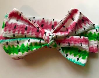 Whimsical Watermelon Baby headband/hairbow