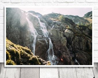Waterfall Photo Print, Waterfall Print, Wilderness Print, Printable Photo Download, Digital Print, Mountain Cascade, Siklawa Poland