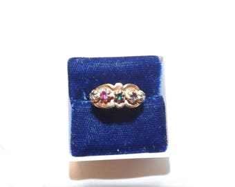 10k Yellow Gold Colored Gemstone Vintage Ring