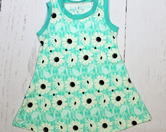 Daisy Dew Tank Dress, Girls Knit Dress, Floral Dress, Summer Daisies, Abiding Dew