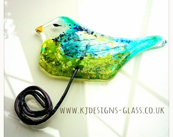 Green and Turquoise Birdie