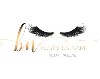 Custom logo design , lashes logo, monogram lashes beauty logo, makeup logo, gold lashes logo design, gold beauty logo, design lashes