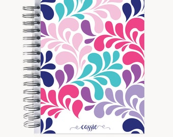 Address and/or Password Book – Personalized | Spiral | Business | Contacts | Gifts | Swirl Multi