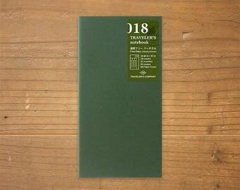 Midori Traveler's Notebook Regular Size 018 Free Weekly Vertical Refill