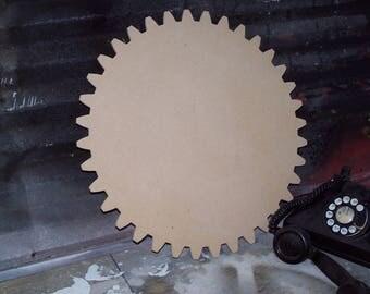 Plaque Blank Gear 18 Inch Plaque Gear Cog Wooden Gear Trophy Rotary