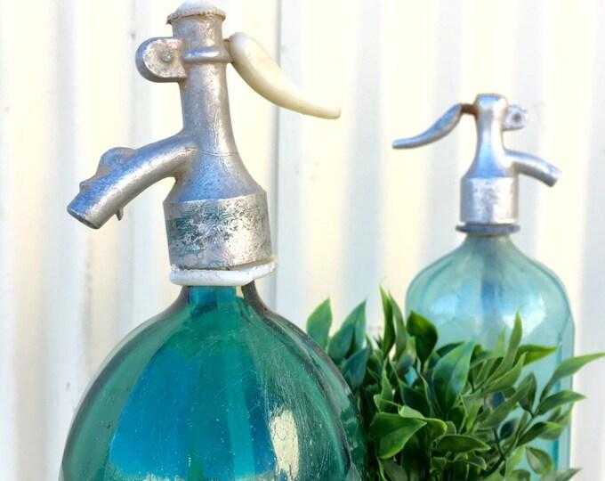 Featured listing image: Vintage European seltzer bottle with art deco design