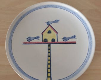 Vintage Hedwig Bollhagen Ceramic Plate- Birds of a Feather