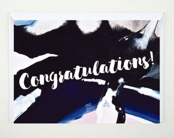 Congratulations, Card, Printed, Greeting Card, Abstract, Quote