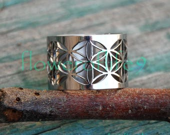 Seed od life IV - modern ring - Stainless Steel
