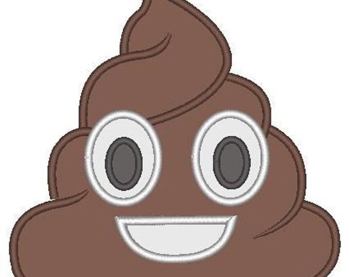 SAMPLE SALE, Poop Emoji Embroidered Shirt - Emoji Birthday - Emoji Birthday Shirt - Emoji Party - Emoji Movie