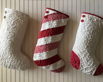 Christmas stockings - Etsy : pattern for quilted christmas stocking - Adamdwight.com