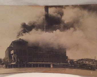 Postcard, Natural Disaster Postcards, Fire Postcard, Diaster Postcard, Antique Postcard,Diaster Ephemera,Industrial Fire on Postcard
