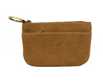 Key Ring Purse Brown Genuine Leather Handmade Sirocco-49025LB