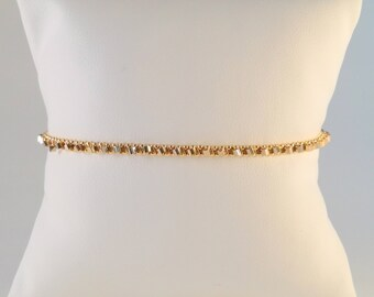 Inseparable gold plated 18 CT pale Gold Bracelet