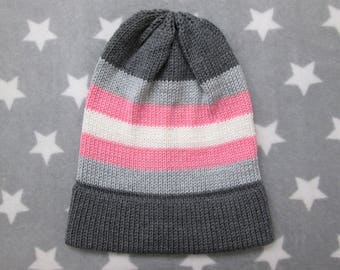 Knit Pride Hat - Demigirl Pride - Slouchy Beanie