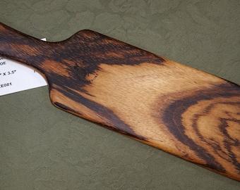 Zebrawood Miss Rose Paddles Exotic Hardwood Spanking Paddle BOE BDSM OTK ZE081