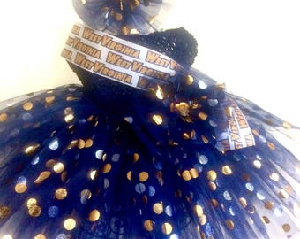 Mountaineer Tutu Ready2Ship  Perfect 4:  pageant wear, ooc, birthday tutu, photo shoot, West Virginia tutu, dress up play!