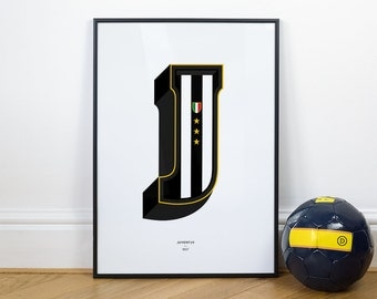 J is for Juventus, Football Typography Print