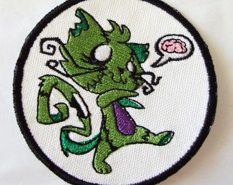 Iron-On Patch - ZOMBIE KITTY