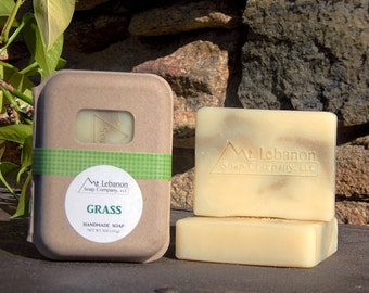 Grass Soap - Easter Soap - French Green Clay - Grass Scent - Facial Bar - Unique Handmade Soap - Clay Soap - Spring Bar Soap - Easter Gift -