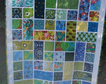 Modern Green and Blue Lap Quilt