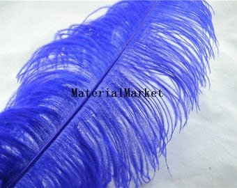 18-20inch perfect Royal Blue Ostrich feather plume for Wedding Centerpiece home decor party event supplies