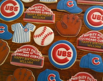 Chicago Cubs baseball Cookies