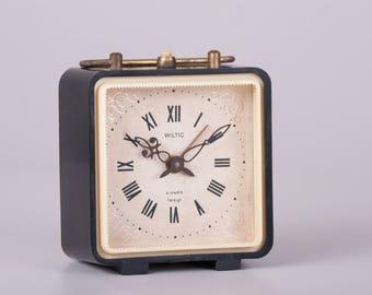 Square Alarm Clock, Soviet Desk Alarm Clock, Jantar Soviet Union Home Decor, Office Decor Plastic Case Clock