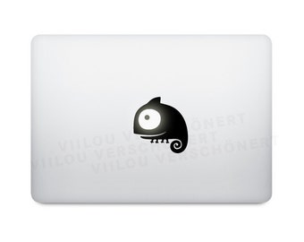 mac chameleon sticker laptop decal computer motif notebook ibook e-reader mobile phone cell phone tattoo decoration vinyl decals picture