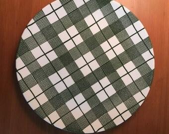 Heather Plaid Dinner Plate