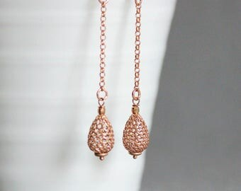 Gold Drop Earrings Silver 925 Rose Gold Plated Earrings Gold Chain Earrings Gold Earrings Silver 925 Earrings Fashion Earrings Drop Earrings