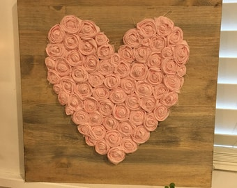 Rustic decor, ready to ship, Valentines decor, rustic heart, rustic gallery wall
