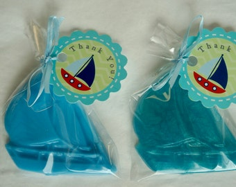 25 BOAT SOAP {Favors} - Nautical themed Birthday, Sail Boat Soaps, Nautical Baby Shower, Navy Blue Hot Pink, Wedding Soap Favors