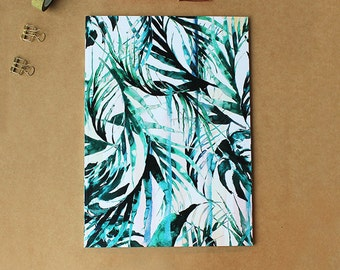 A4 Paradise Palms Notebook with lined pages