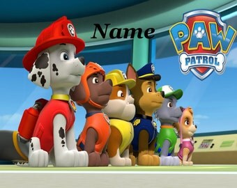 Personalised A3 / A4 Jigsaw / Puzzle - Paws Patrol - Style 2 - Own Wording on Jigsaw 30/60/96/120/150/221 pieces