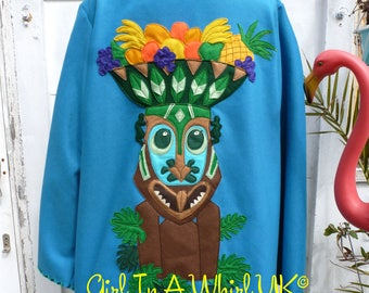 Vtg style Mexican Tourist jacket, vintage repro, made to measure, bespoke, mexican tiki poodle rockabilly novelty 40s 50s