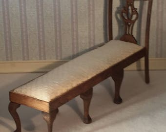 NEW 1/12th Scale Chippendale Style Daybed for A Dollhouse