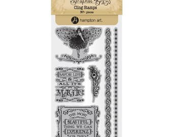 Graphic 45 MIDNIGHT MASQUERADE 3 Cling Stamps IC0385S cc55