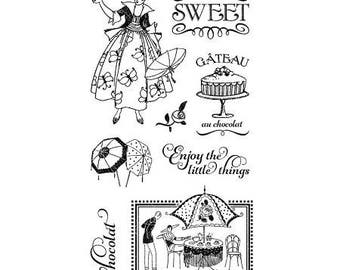 Graphic 45 CAFE PARISIAN 1 Cling Stamps IC0365S cc55