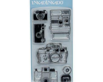 Inkadinkado Clear Acrylic Stamp Set - CAMERAS cc02