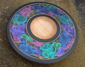 iridescent bowl.