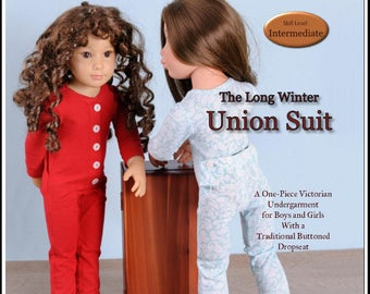Pixie Faire Thimbles and Acorns Union Suit Doll Clothes Pattern for Kidz n Cats Dolls - PDF