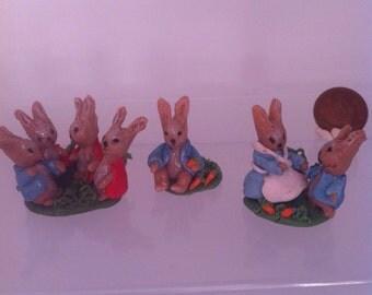 Dolls House Miniature Handmade OOAK Beatrix Potter Characters Ornaments - Peter Rabbit