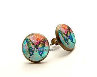 Butterfly Earrings, Butterfly jewelry, Hypoallergenic Earrings for Sensitive Ears