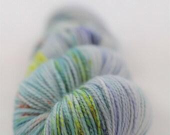Hand-dyed yarn - sock yarn - superwash - merino - dyed-to-order - speckles - THAITI