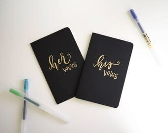 His & Her Vows - Set of 2 Moleskine Pocket Cahier Journals