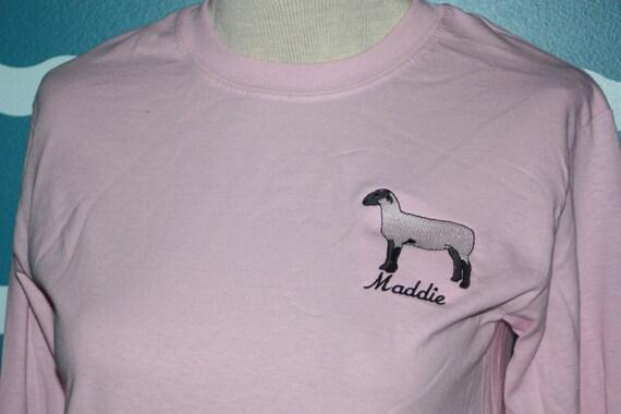 Custom lamb t-shirt - Livestock lamb show awards t-shirt - customized show award